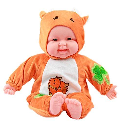 Lifelike Realistic Baby Doll Zodiac Doll Soft Body Play DollCattle Baby Doll
