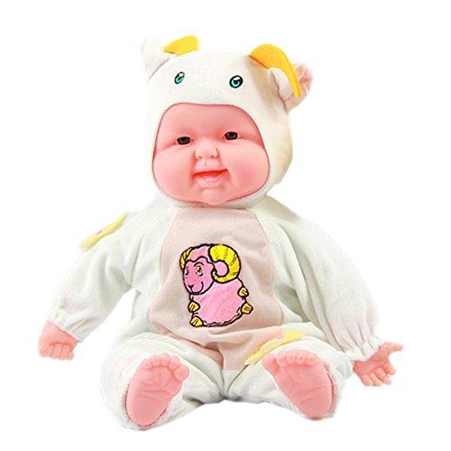 Lifelike Realistic Baby Doll Zodiac Doll Soft Body Play Doll Goat Baby Doll
