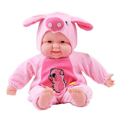 Lifelike Realistic Baby Doll Zodiac Doll Soft Body Play Doll Pig Baby Doll