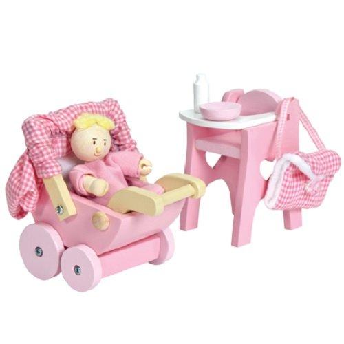 Le Toy Van Dollhouse Furniture Accessories Nursery Set
