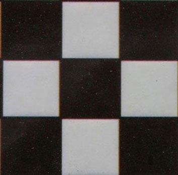 Dollhouse Tile Black White Square 4pk 124