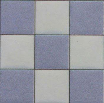 Dollhouse Tile Blue White Square 4pk 124
