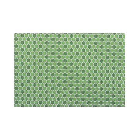 Dollhouse Tile Hexagons 12 X 16 Light Green Dark Green