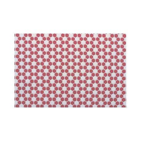 Dollhouse Tile Hexagons 12 X 16 Red White