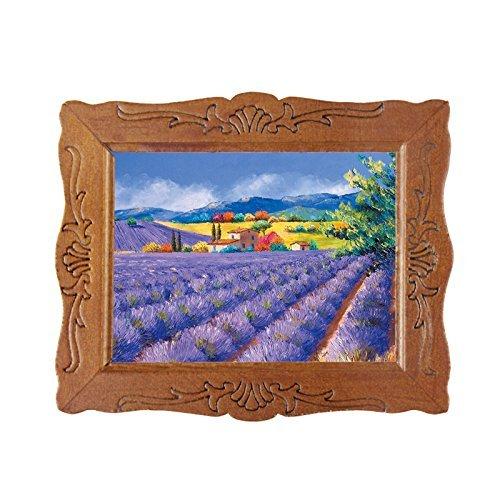 Generic 112 Scale Fine Miniature Picture Purple Lavender Garden Dollhouse Decoration
