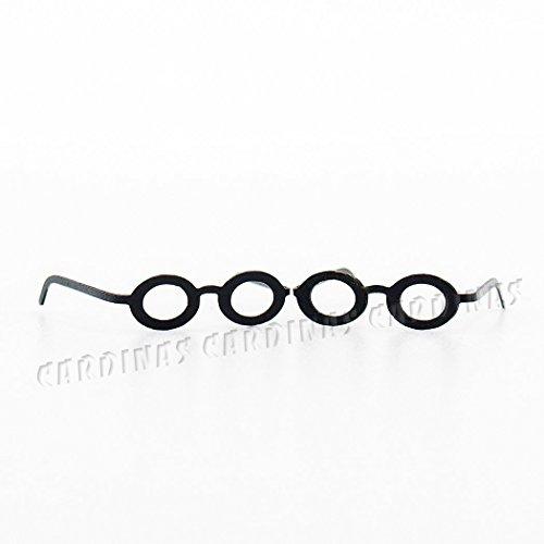 Odoria 112 Miniature 2PCS Black Frame Eyeglasses Dollhouse Decoration Accessories