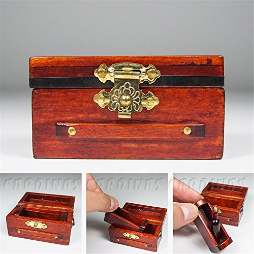 Odoria 112 Miniature Vintage Treasure Chest Wine Rack Dollhouse Decoration Accessories