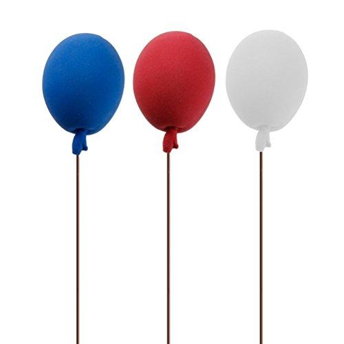 Pixnor 8pcs Miniature Foam Balloons 112 Dollhouse Decoration