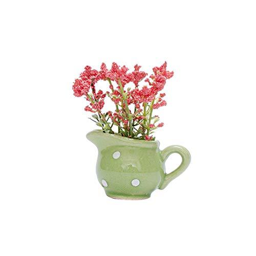Powerfulline 1Pc Mini Artificial Plant Flower High Simulation Bonsai Model Dollhouse Miniature Landscape Decor B