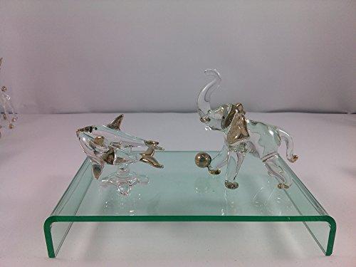 SUPAKÂ 2pcs Randomlot Glass Blown Art Hand Dollhouse Miniatures Animal Figurine Decor Handcrafted Handmade Blown Glass