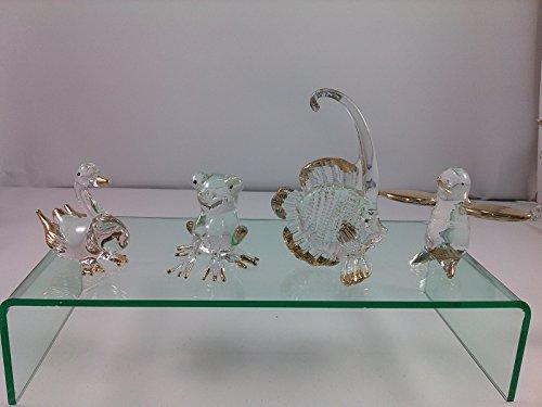 SUPAKÂ 4pcs Randomlot Glass Blown Art Hand Dollhouse Miniatures Animal Figurine Decor Handcrafted Handmade Blown Glass