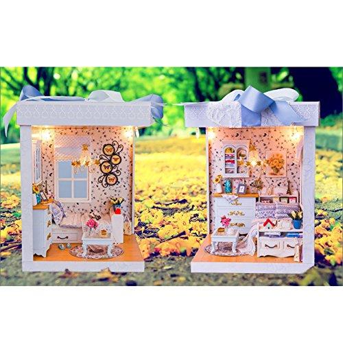 LianLe Wooden Handmade DIY Dolls house Kit Box Gift Bedroom