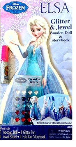 Disney Frozen Elsa Wooden Doll Storybook
