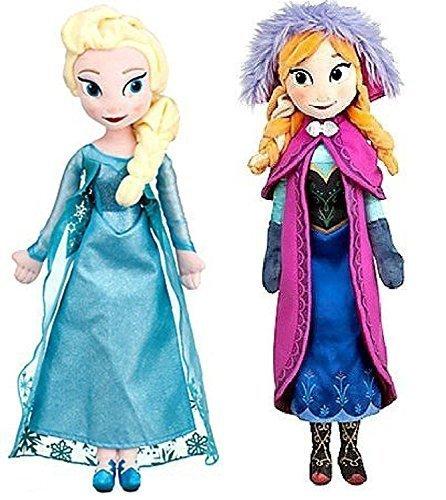 Disney Frozen Princess Elsa Anna Doll Set Featuring 20 Plush Dolls 2-Pack by Disney Frozen Dolls