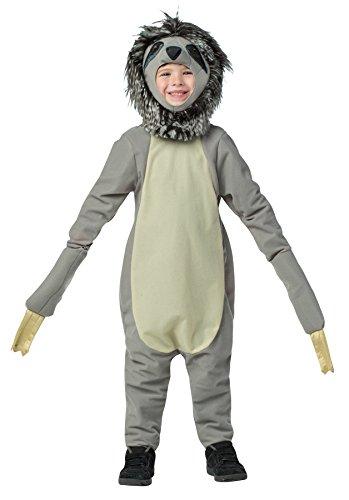 Rasta Imposta Boys Sloth Outfit Funny Theme Fancy Dress Toddler Child Halloween Costume Child M 7-10 Gray