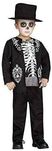UHC Boys Skeleton King Dead Festival Theme Toddler Child Halloween Costume 3-4T