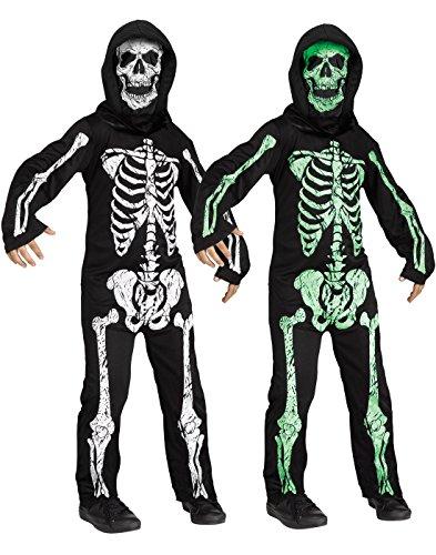 Fun World Green Skeleton Phantom Boys Halloween Costume-L Grn Lrg12-14