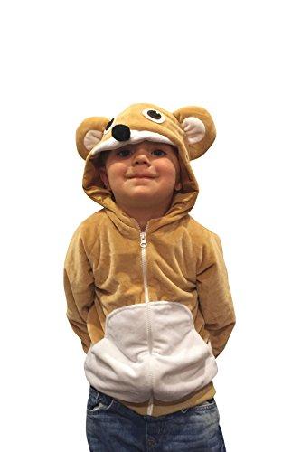 Halloween Costumes Kids Bear Costume Bear Hoodie Boys Sweatshirt Cub Costume 4-6yrs