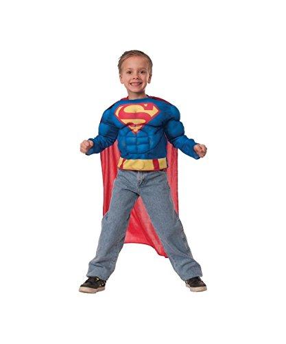 Dc Comics Superman Boys Muscle Costume Shirt
