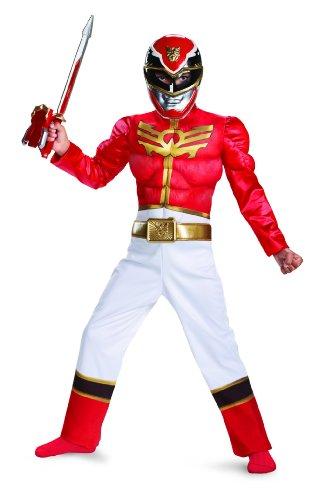 Disguise Power Ranger Megaforce Red Ranger Boys Muscle Costume 10-12