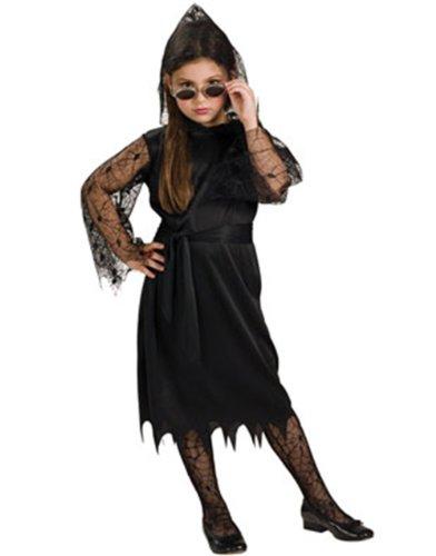 Gothic Lace Vampiress Child Halloween Costume Size 8-10