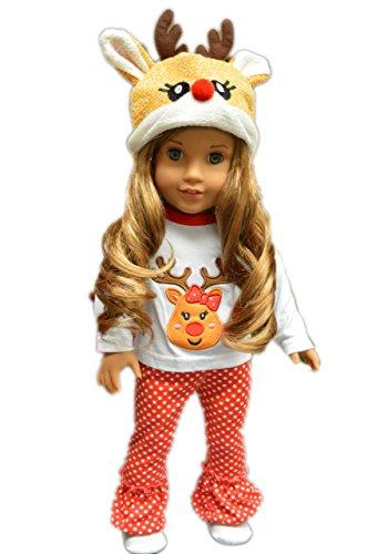 My Brittanys Reindeer Pj Lounge Set for American Girl Dolls