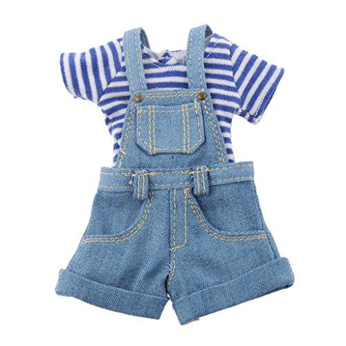 16 Blue Strap Jumpsuit for BJD Blythe Dolls Clothes Accessories