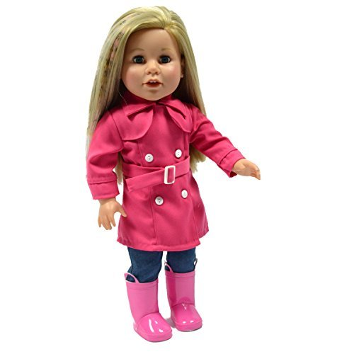 Pink Rain Coat for 18 Inch Dolls - American Girl Doll Clothes