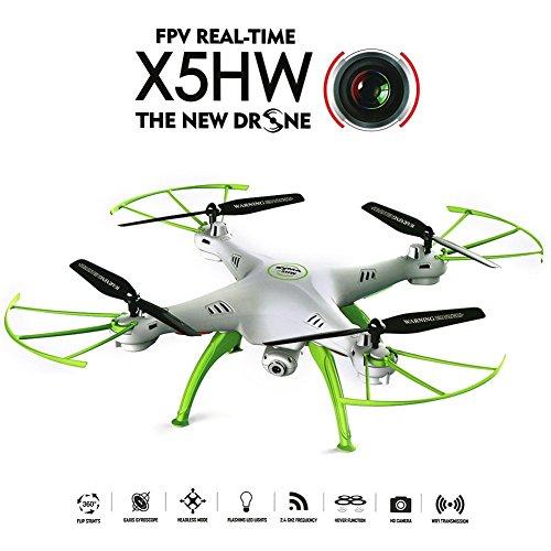 Syma X5HW WiFi FPV 24G 4CH RC 6 Axis Gyro Quadcopter Drone With 03MP HD Camera A 360-degree 3D flips function RTF RC
