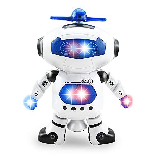 Jungle Toys Electronic Walking Dancing Robot Digital Toy Music Colorful Flashing Lights 360° Spinning Warrior Action