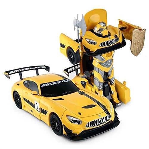 PowerTRC 114 Mercedes-Benz GT3 24ghz RC Transformer Dancing Robot Car Yellow