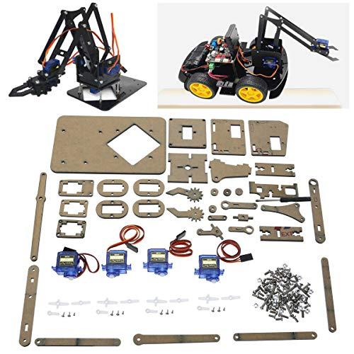 Balance World Inc DIY Robot Arm Claw Arduino  Servos Kit Mechanical Grab Manipulator Assemble Set