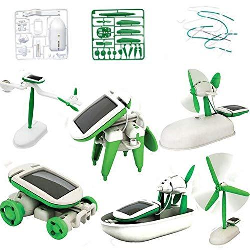 Judariy Hot DIY 6 in 1 Educational Learning Power Solar Robot Kit Children Kids Toys Solar Toy car