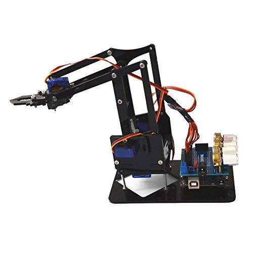 Robot Arm Kit SNAM1900 DIY Mechanical Claw Robot with sg90 Servo and Control Software for Arduino Robotics US 100-240V