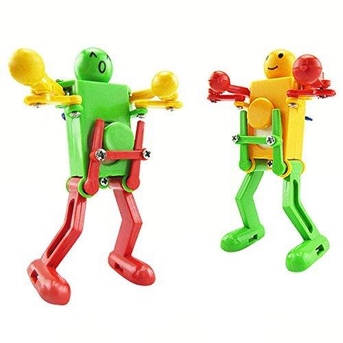 ASDOMO Olorful Clockwork Spring Wind-up Dancing Walking Robot Toy For Baby Kid Child