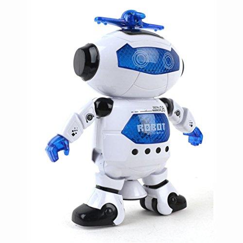 BinmerTMKids Children Electronic Walking Dancing Smart Space Robot Astronaut Kids Music Light Toys