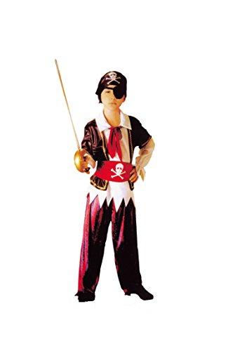 RoarSoar Pretend Play Pirate Boy Costume Age 4 to 6 Medium One Color