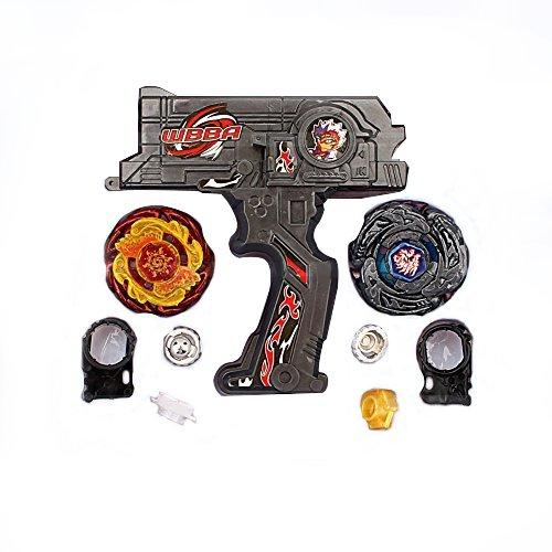Yosoo Hybrid 2 Beyblade Metal Fusion Beyblade Rapidity Fight Masters Set Toy GiftBlack