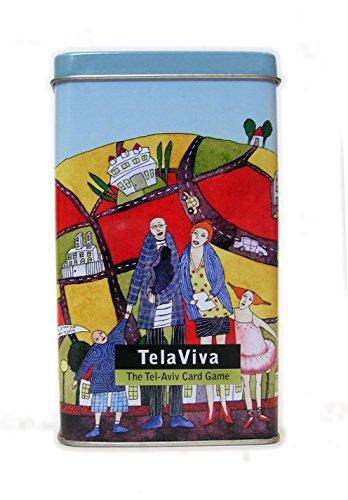 TelaViva The Tel Aviv Card Game Tel Aviv Souvenir Educational Card GameJumbo Deck for KidsAdultsUnique Israeli Gift Israeli Artists Tourist Spots of Modern City Map Puzzle on Back