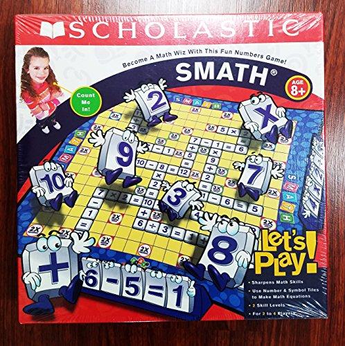 SMATH Math Skills Board Game Scholastic Educational