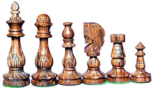 FlowerBase Wooden Chess Set Ornamental Handicraft Chess Pieces