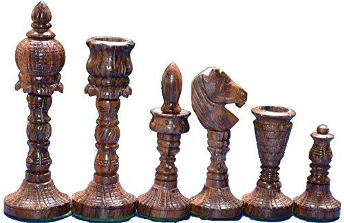 Wooden Chess Set World Wonder THE TAJ Symbol of Love Design King 4 32 Chess Pieces