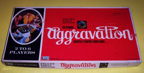 RARE ORIGINAL VINTAGE DELUXE PARTY EDITION AGGRAVATION ANTIQUE BOARD GAME-COLLECTIBLE TOY
