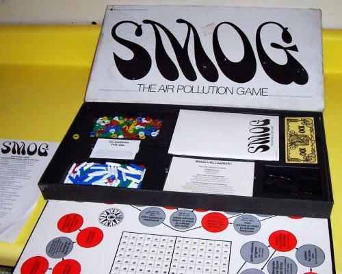 X-RARE ORIGINAL VINTAGE 1970 SMOG THE AIR POLLUTION GAME ANTIQUE BOARD GAME-COLLECTIBLE TOY