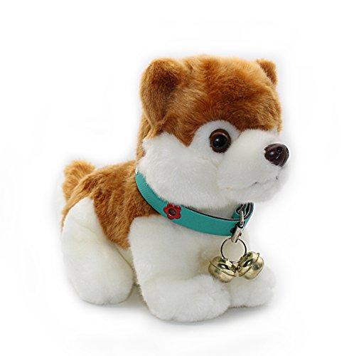 Removable Blue Ring Collar Husky Plush Puppy Stuffed Animals Dogs Plush Toy 11
