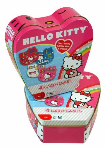 Christmas Gift - Sanrio Hello Kitty 4 Card Game in Heart Shape Tin Box