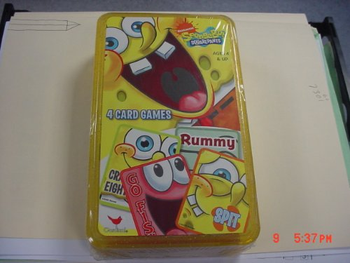 SpongeBob Squarepants Cards 4 Card Games