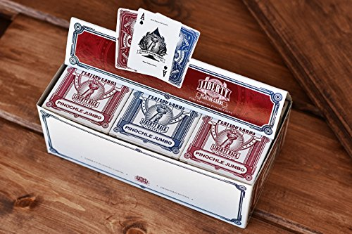 Liberty Pinochle Jumbo Playing Cards Set of 12 Decks