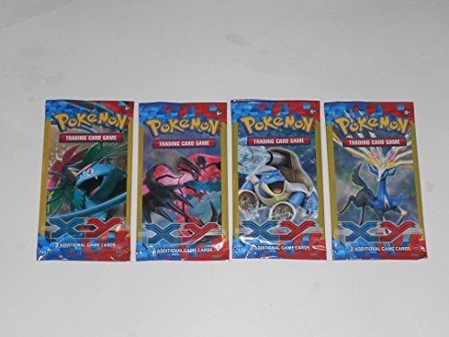 4 Pokemon XY Trading Card Game Packs Bundle