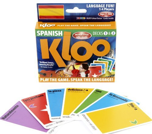 KLOOs Learn to Speak Spanish Language Card Games Pack 1 Decks 1 2 by KLOO Games